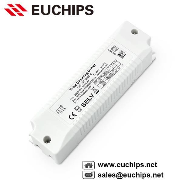 350/500/700mA 20W 1 channel dimming constant current triac driver EUP20T-1HMC-0