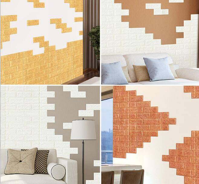 XPE foam sponge material light weight wall artificial marble eco-friend tile