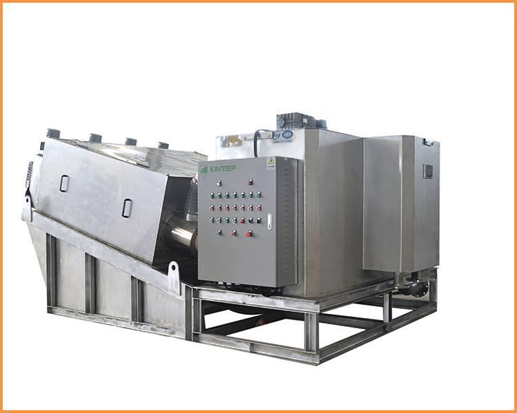 Stainless steel sludge dewatering machine KT404