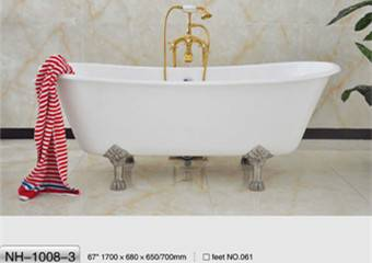 NH-1008-3 Freestanding Cast Iron Bathtub