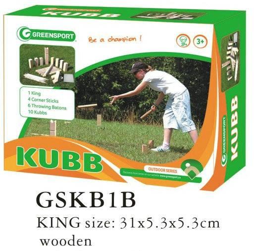 outdoor wooden kubb game set