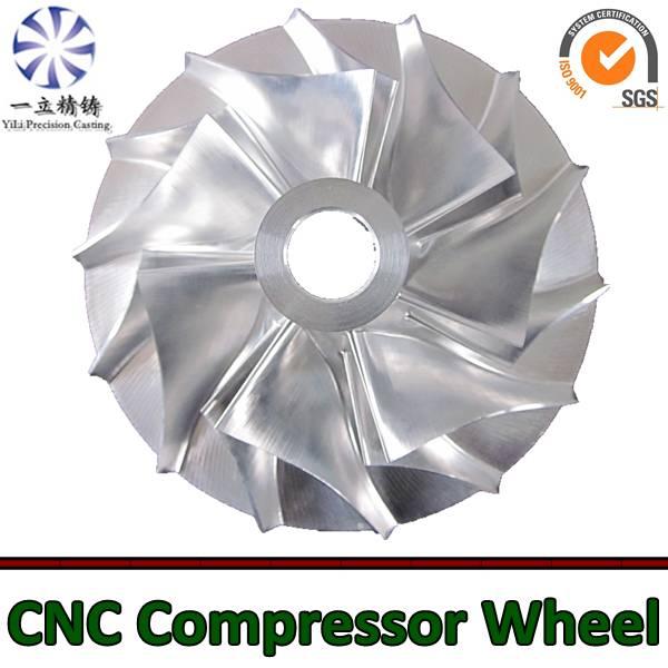 Aluminum alloy CNC machining compressor wheel used for diesel engine