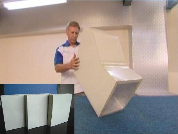 Air Duct  Super  PIR(Polyisocyanurate) Pre Insulated Panel (One Side Aluminium Composite Colour 20