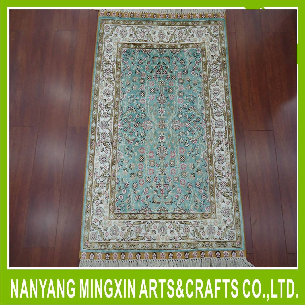 modern design hand knotted artificial silk carpet designer rugs