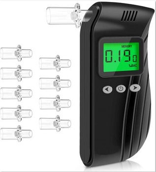 Digital Alcohol Tester Easy to Use with a Retractable Mouthpiece for Personal Alcohol Breath Testing
