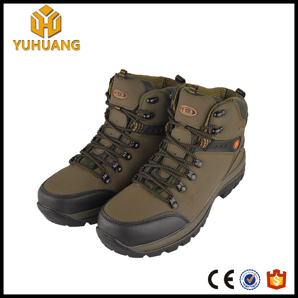 Best price breathable suede leather rubber waterproof hiking boot