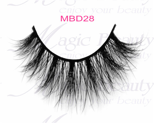 Real Cruelty-free 3D Mink Fur Lashes MBD28 Both Black and Clear Bands
