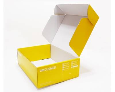 Yellow Printed Color Flute Box