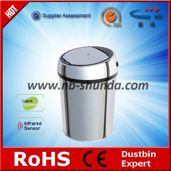 hot sale household round trash bin for restroom automatic auto dustbin injection trash bins mould