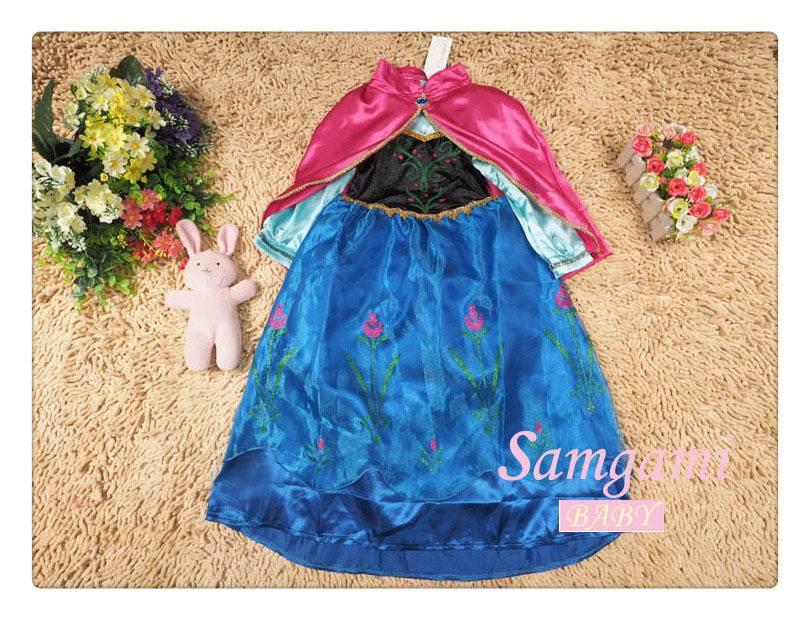hot sell frozen girl dress  princess partly dress