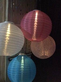 supply 2016 type hanging fabric lanterns with solar panel