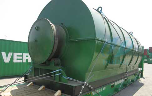Tyre to oil recycling process pyrolysis plant