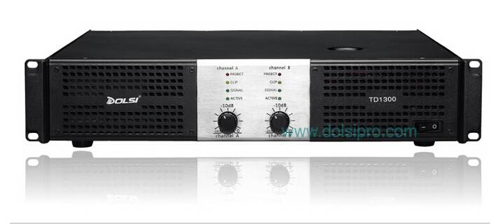 Double Channel Professional power amplifier TD series 260W to 1600W