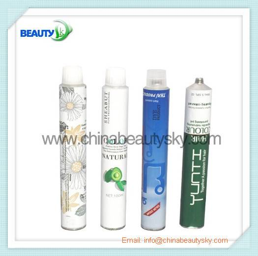 Soft Aluminum Collapsible Tubes Cosmetic packaging tubes for hair color cream tube hand cream tube