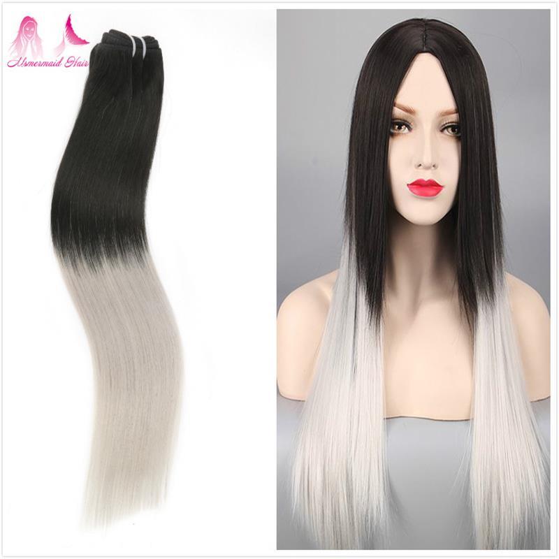 Brazilian Virgin Hair Mink Ombre Straight Hair Weave 100% Unprocessed Raw Human Hair Extension