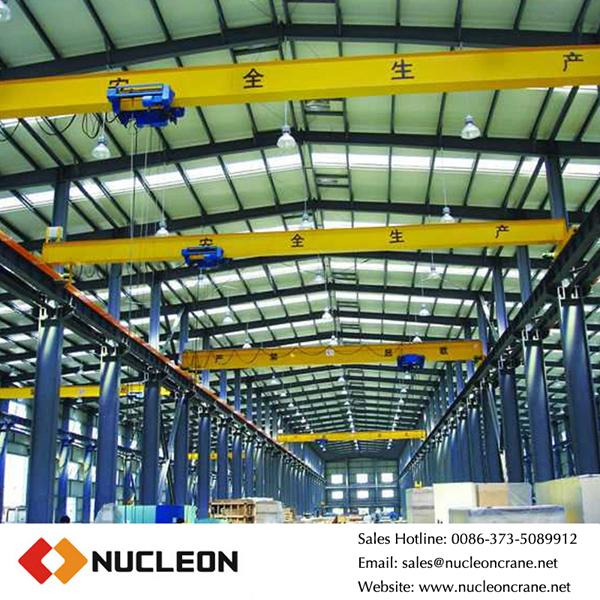 nucleon hd 16 tons single girder overhead bridge crane
