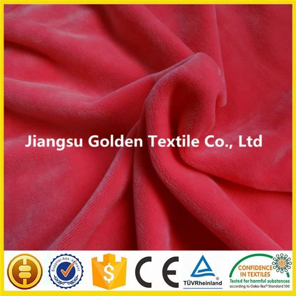 polyester long pile faux fur plush fabric