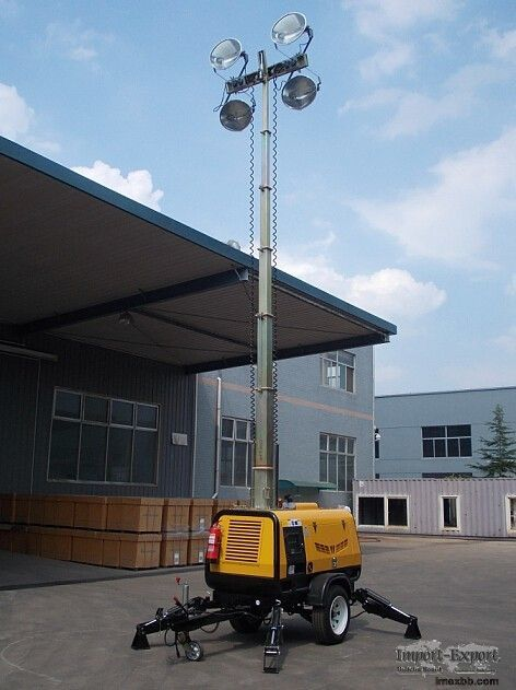 Moveable Light Tower 9m 41000W with Hydraulic Operation Rectangle Regular