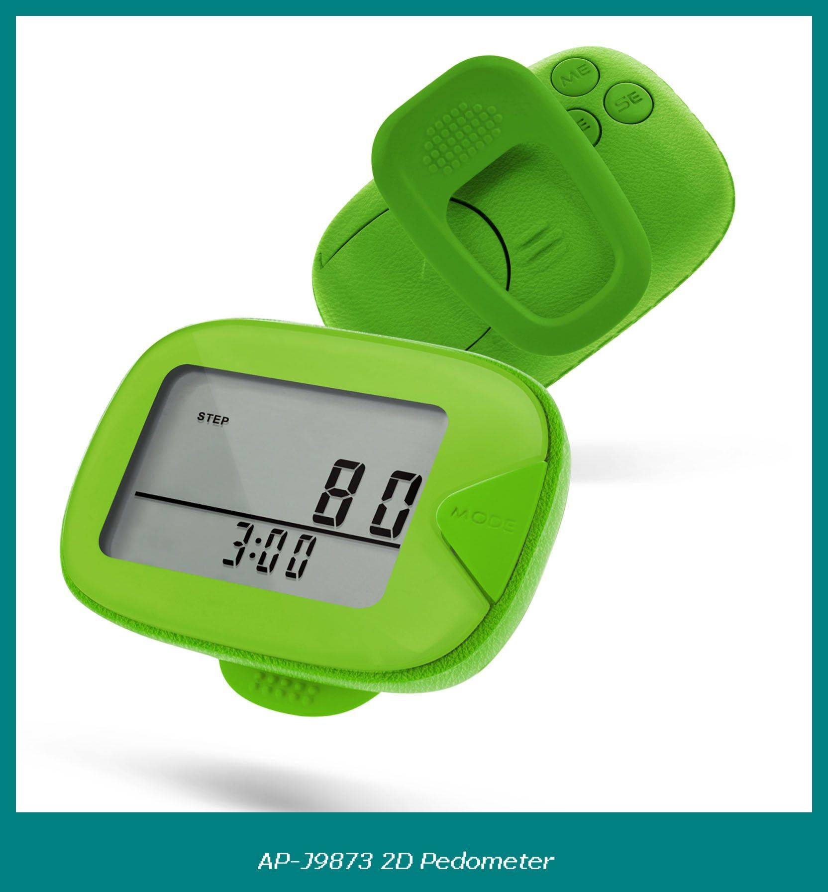 Colorful 7 days memory pedometer with large LCD