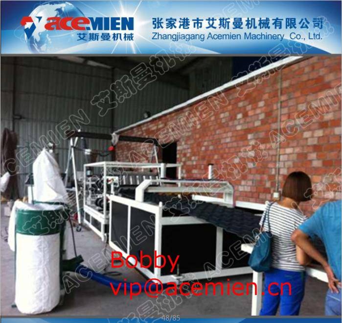 Flat to pitched,Eco,recyclable,easy installation pvc antique roof sheet machine