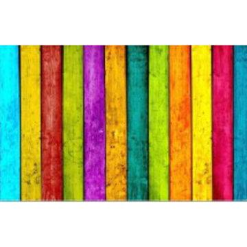 Rainbow stripes rubber doormat