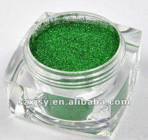 Aluminous Green Glitter Powder