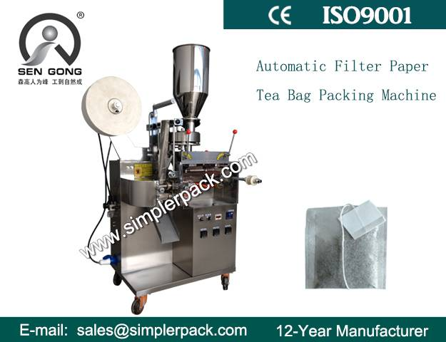 Simple Filter Paper Tea Bag Packing Machine with Thread and Tag