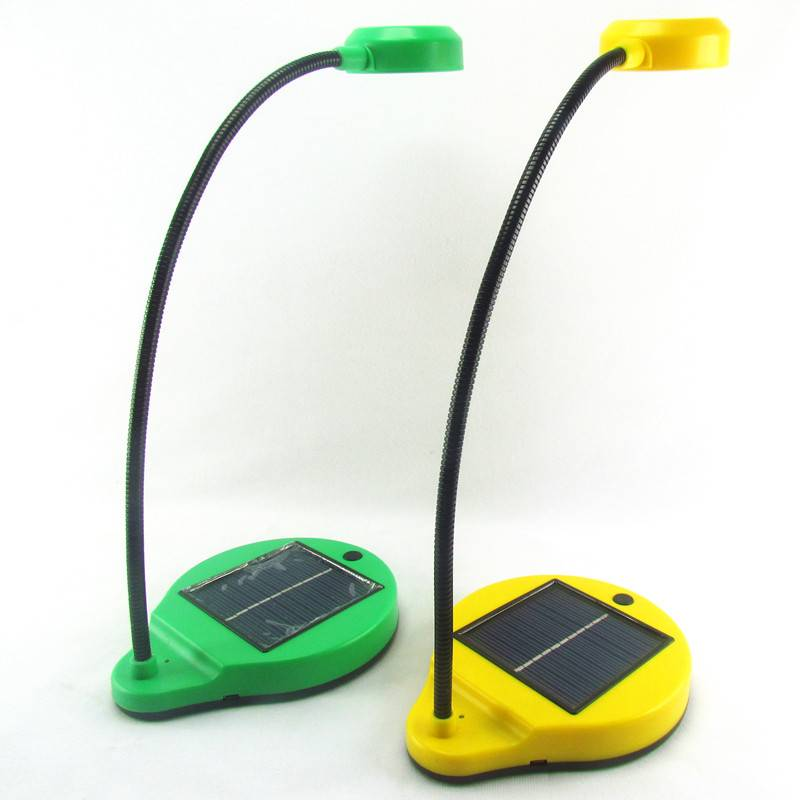 ABS eye protection mini indoor solar table light with USB cable