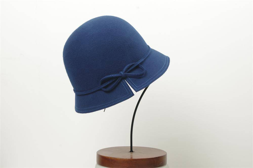 Wool Felt Bucket Hat For Woman (FW014082)