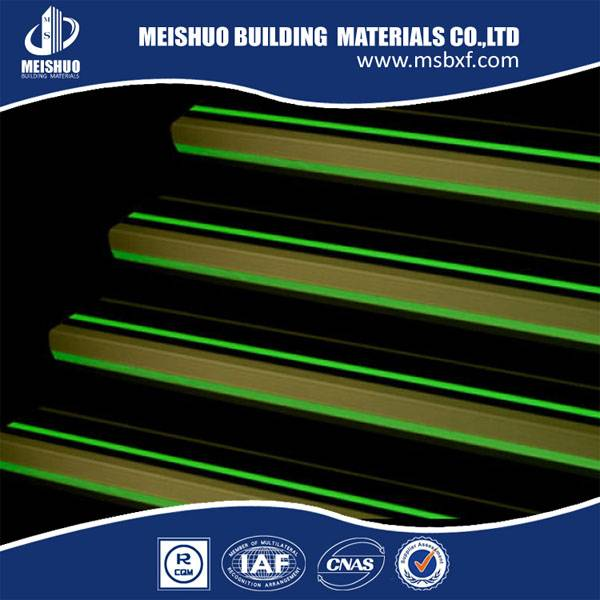 luminous adhesive anti slip aluminum stair nosing strips