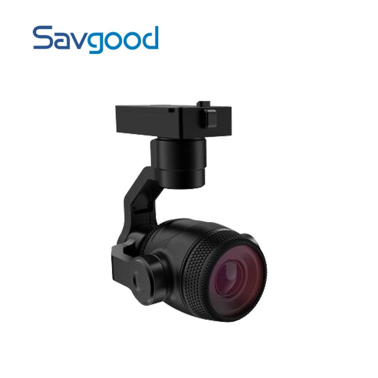 3-Axis Stabilized Auto Tracking 8MP 4K 3.5x Optical Zoom Network Tethered Drone Camera Gimbal