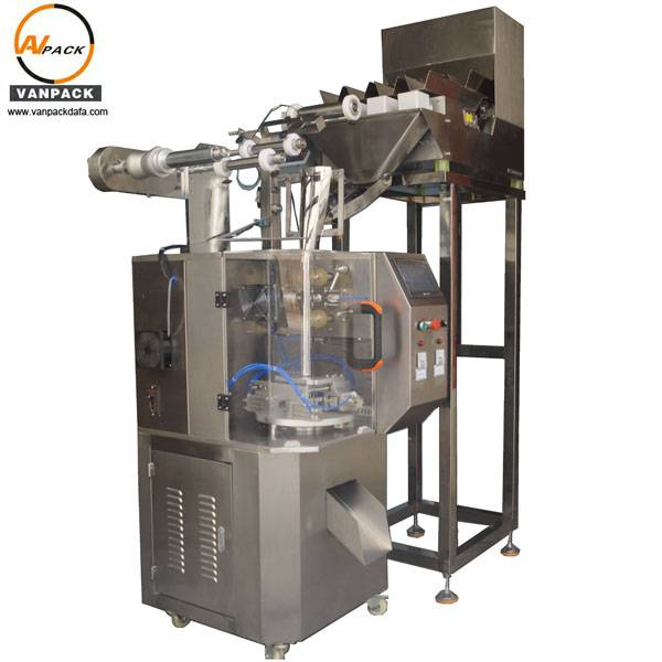 4 Heads Weigher Pyramid Tea Bag Packing Machine