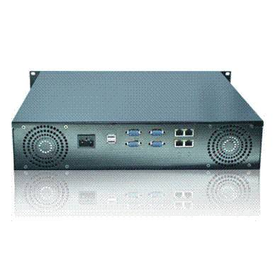 2u rackmount server case with lcd