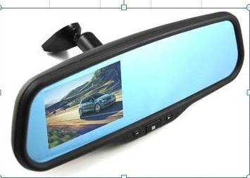 Bracket way, 4.3 inch Electrochromic Auto -Dimming  Video Parking Mirror