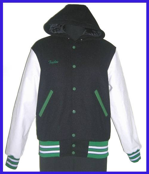 Hood Varsity Jackets for Women Navy and White Wholesale Suppliers Manufacturers