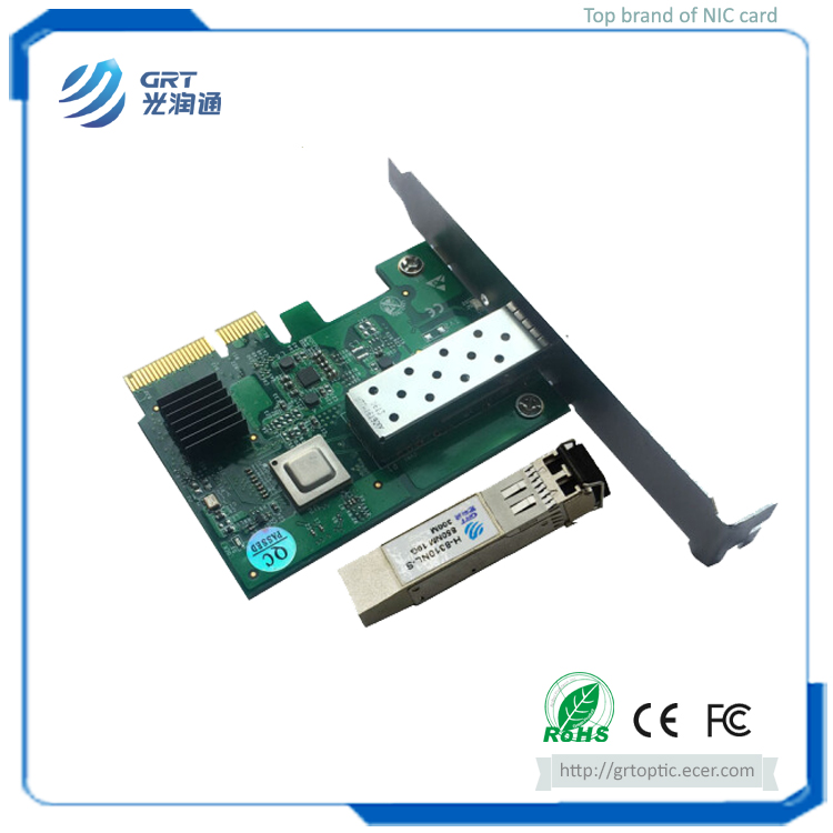 Brand New PCIe 10GbE 1-Port Fiber Optical Network Server Adapter with 10G Multimode MM Module