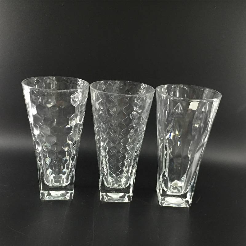 High quality glass cup glassware glass tumbler wishkey glass water glass