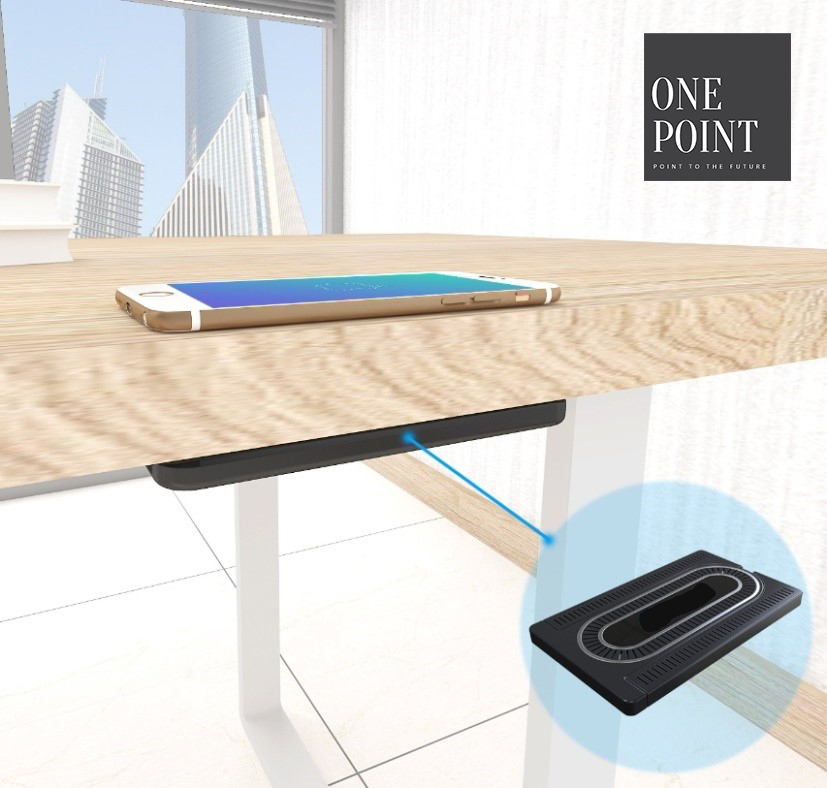 2019 New QI Fast Wireless Charger for iPhone/Samsung Under the Table Invisible