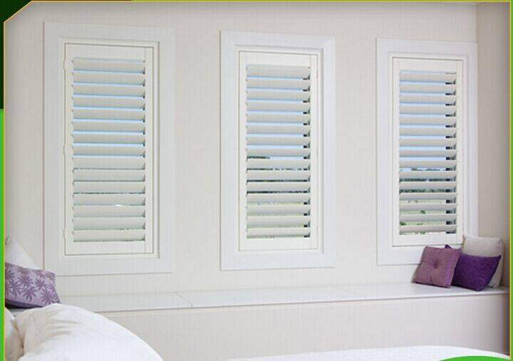 Interior solid timber wood shutters