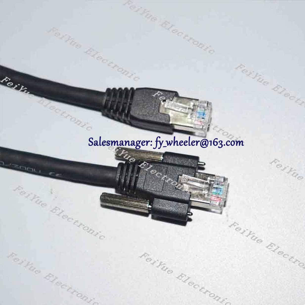 Industrial automatic visual camera ethernet cable for Gige CCD camera link cable with screw