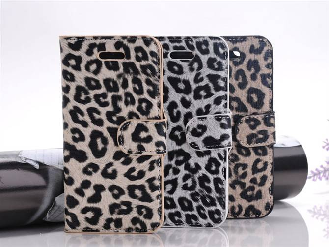 Cheetah Spots Pattern Case Cover for iPhone 5G/5S Light Brown USD2.40