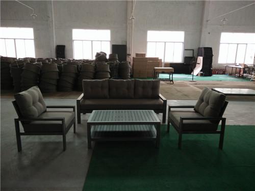 High end aluminium polywood sofa set garden furniture