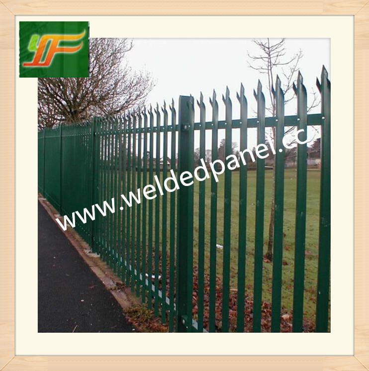 UK and Australia marketing Black galvanized coating palisade fence panel