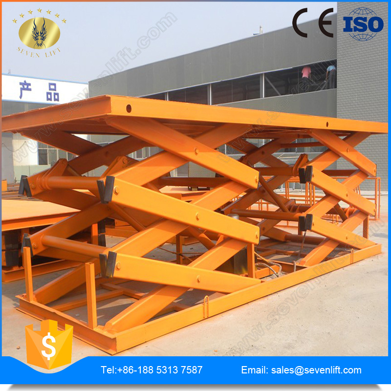 7LSJG Shandong SevenLift warehouse hydraulic scissor vertical cargo lifting mechanisms