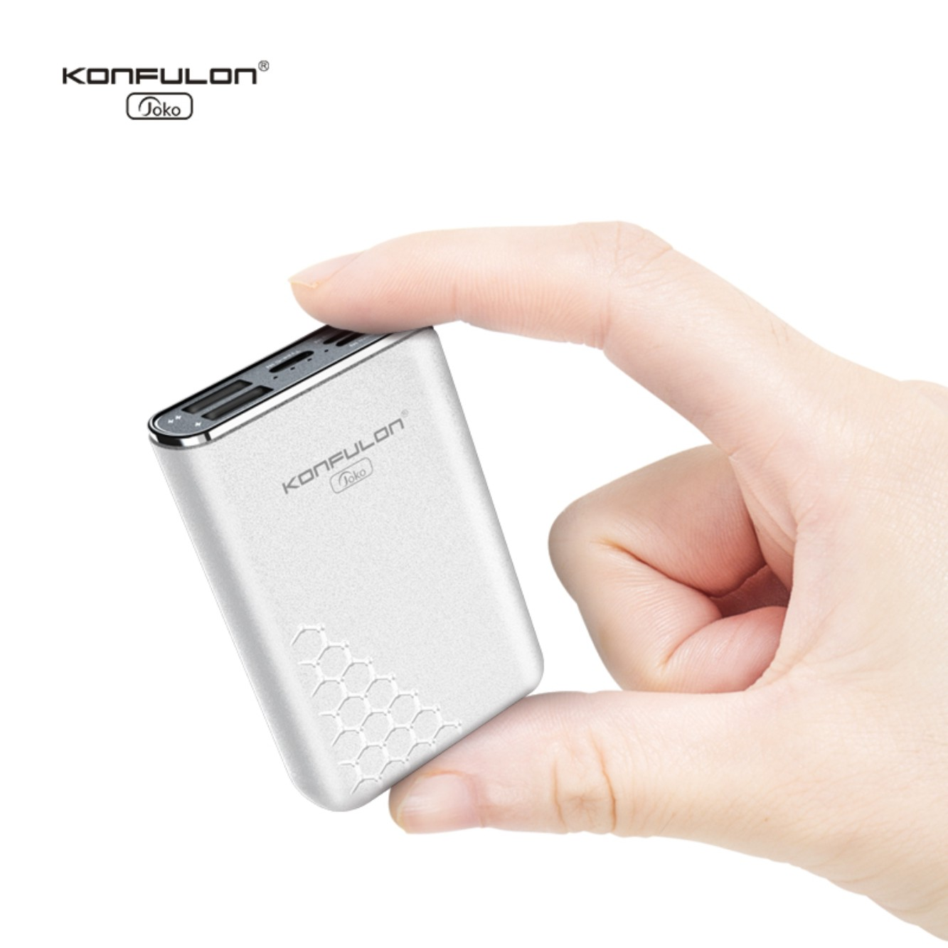 Konfulon High Capacity Small Size Power Bank 10000mah Best Portable External Battery Charger