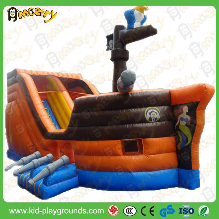 Durable Inflatable Toys Giant Inflatable Pirate Ship Slide