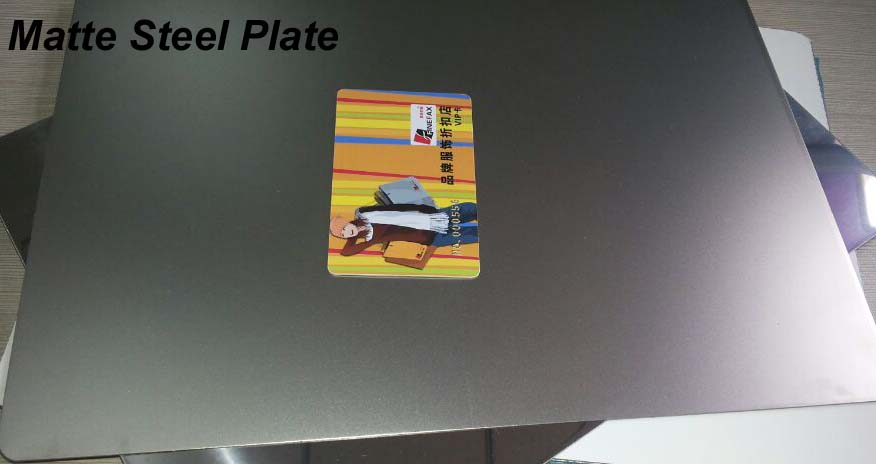 Matte Finish Card Lamination Steel Plate MSP-M