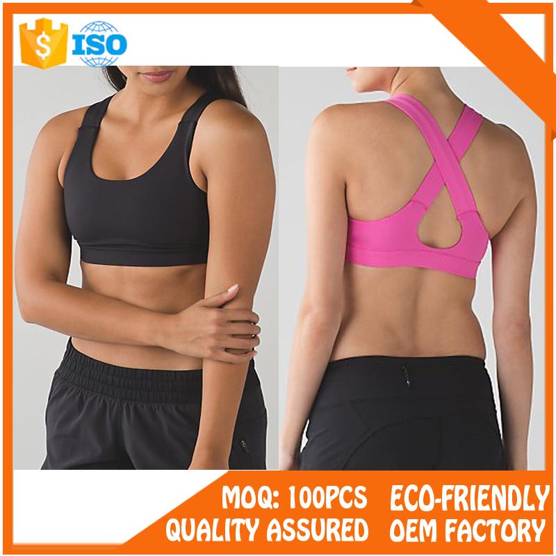 Dry Fit Ladies Gym Wear Sexy Durable Yoga Bra Wholesale Sports Bra