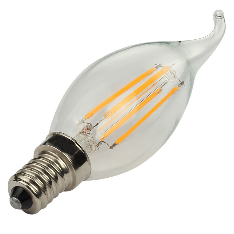LED filament bulb C35 2W/4W with CE & RoHS