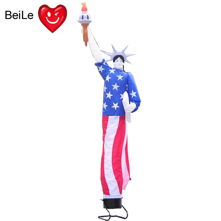 Commercial customized Statue of Liberty shaped inflatable air dancer